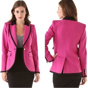 Juicy Couture Bright Pink Wool Blazer 4 W3169